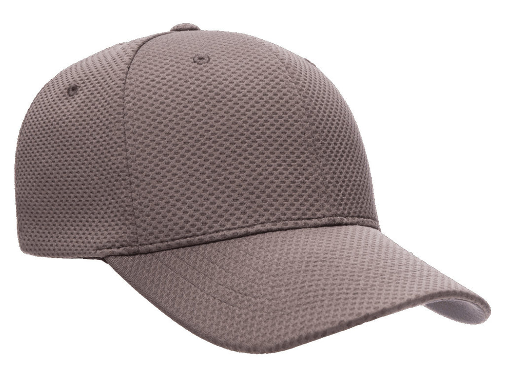 Flexfit 6584 Cool & Dry 3D Hexagon Jersey Hat in Grey