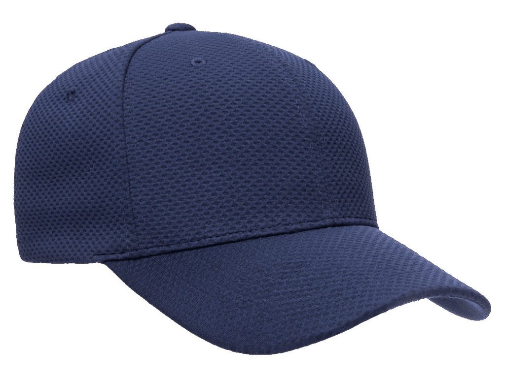 Flexfit 6584 Cool & Dry 3D Hexagon Jersey Hat in Navy Blue