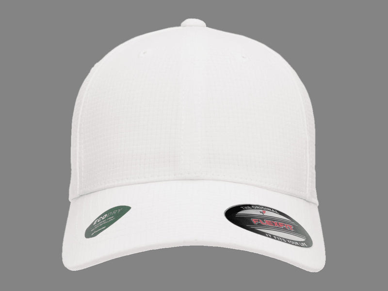 Flexfit 6587 Hydro Grid Hat in White
