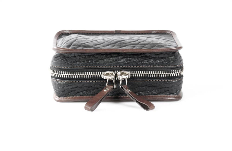 Handmade Leather Zipper Tech Cable Case