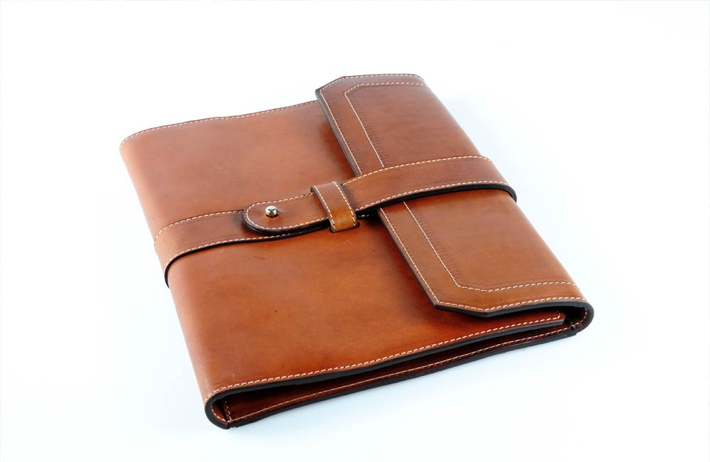 Personalized Tan Leather Padfolio Journal