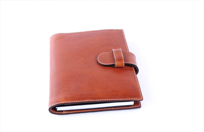 Personalized Tan Leather Journal Padfolio