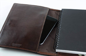 Cool Engraved Writing Book with Phone Holder