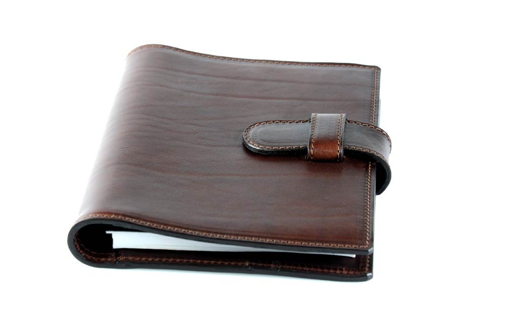 Personalized Brown Leather Journal Padfolio