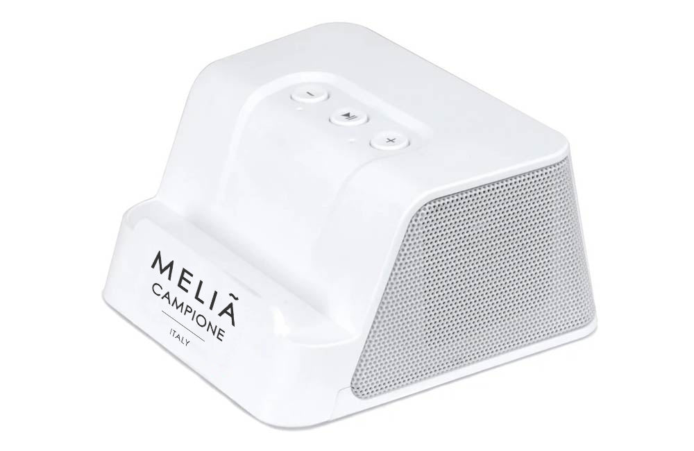 White Bluetooth Speaker with Custom Company Logo
