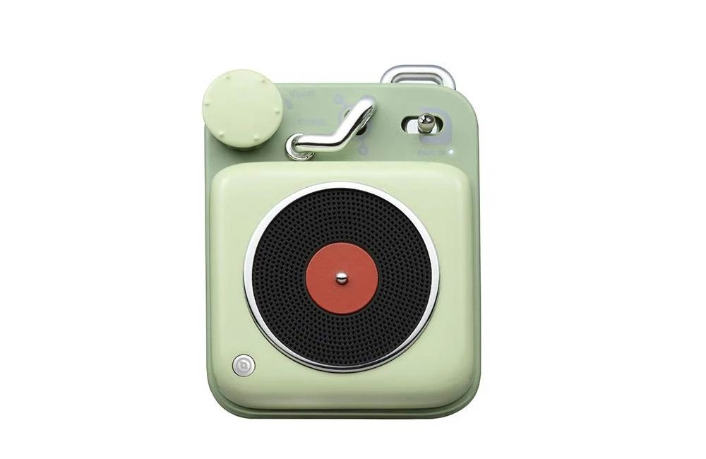 Key Lime Green Muzen Mini Button Portable Bluetooth Speaker