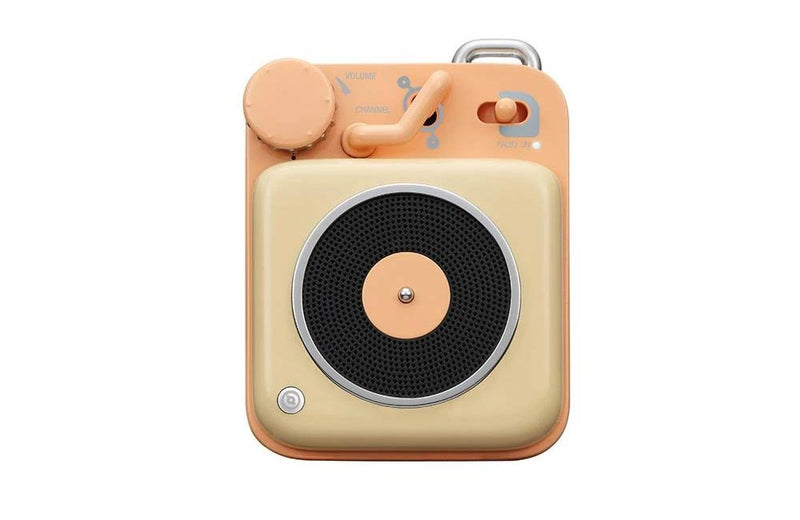 Peach Tan Muzen Mini Button Portable Bluetooth Speaker