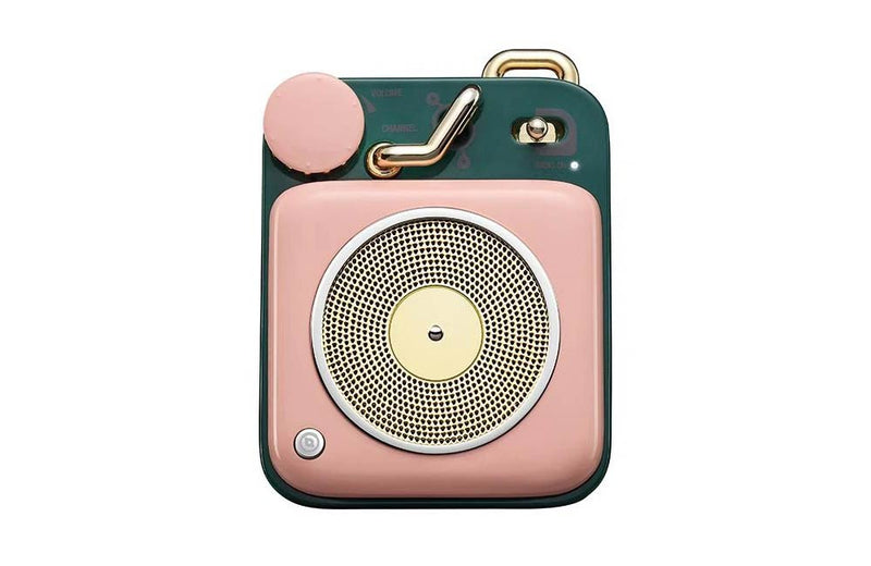 Cotton Candy Pink Muzen Mini Button Portable Bluetooth Speaker