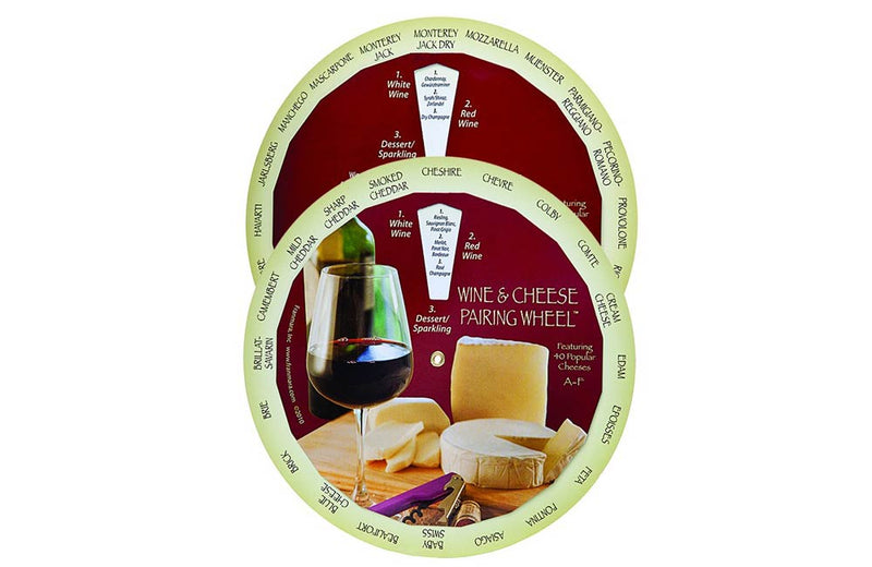 Wine and Cheese Matching Pairing Wheel Guide