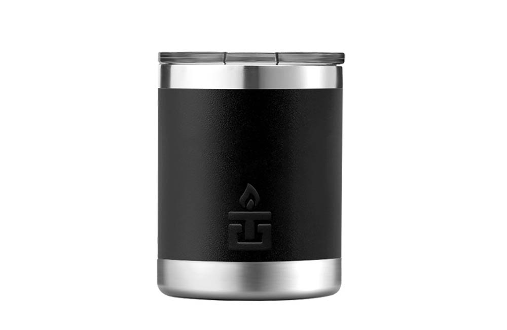 Black Steel Mug with Lid