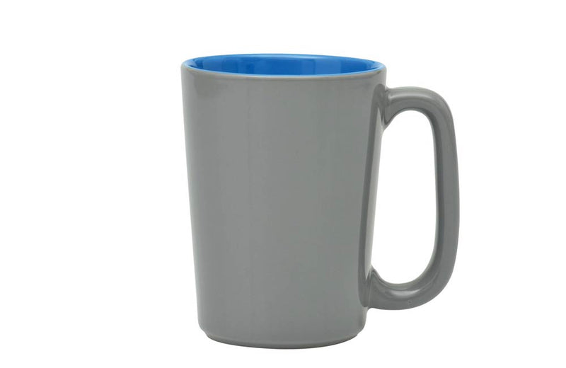 16oz Large Handle Coffee and Tea Mug with Blue Interior