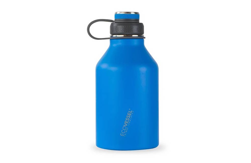 Blue EcoVessel 64oz Stainless Steel Growler