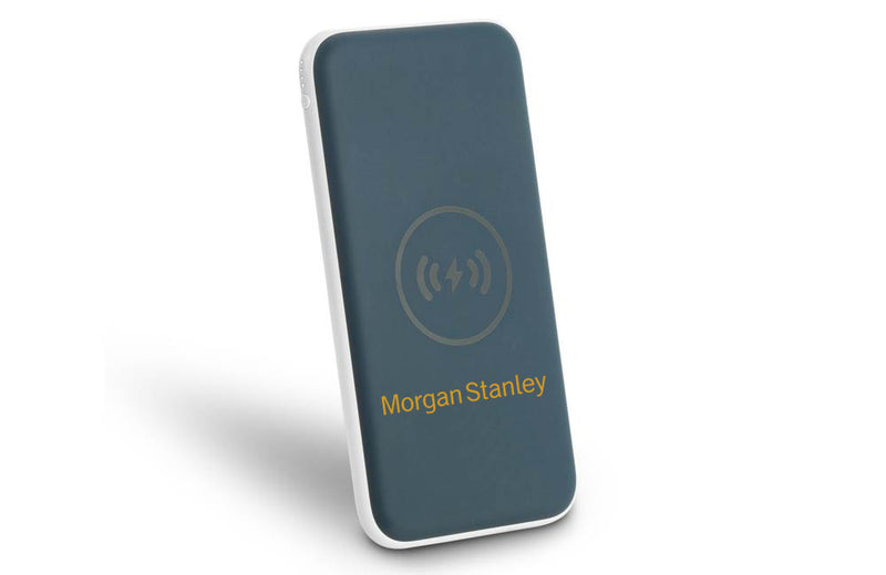 Wireless Charging 8,000mAh Power Bank with Custom Printed Company Logo