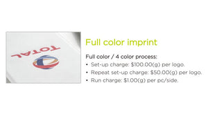 Full Color Imprint for Corporate Branding