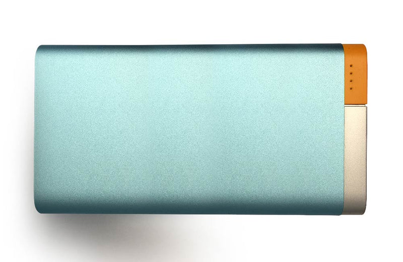 Baby Blue 10,000mAh Metallic Two-Tone Power Bank