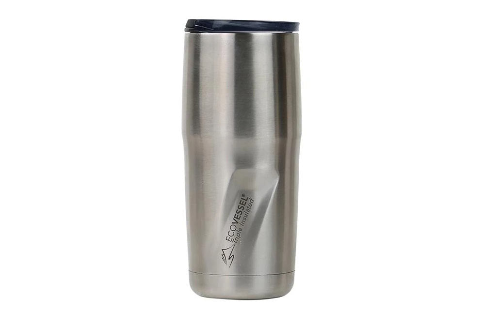 Brushed Stainless Steel 16oz Vacuum Insulated EcoVessel Tumber
