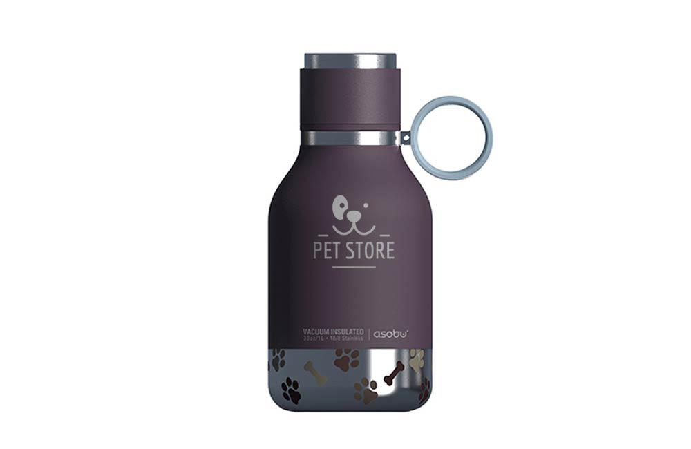 Water Bottle with attached Pet Water Bowl Custom Logo