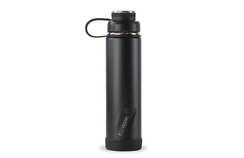 Matte Black 24oz EcoVessel Triple Insulated Water Bottle