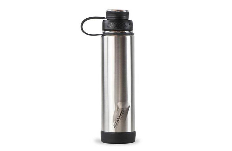 Brushed Stainless Steel Bottle with Laser Engraved Company Logo