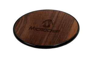 Wooden Wireless Charger with Custom Laser Engraved Company Logo
