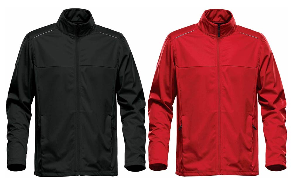 Men's Greenwich Lightweight Softshell Jacket in Black and Red