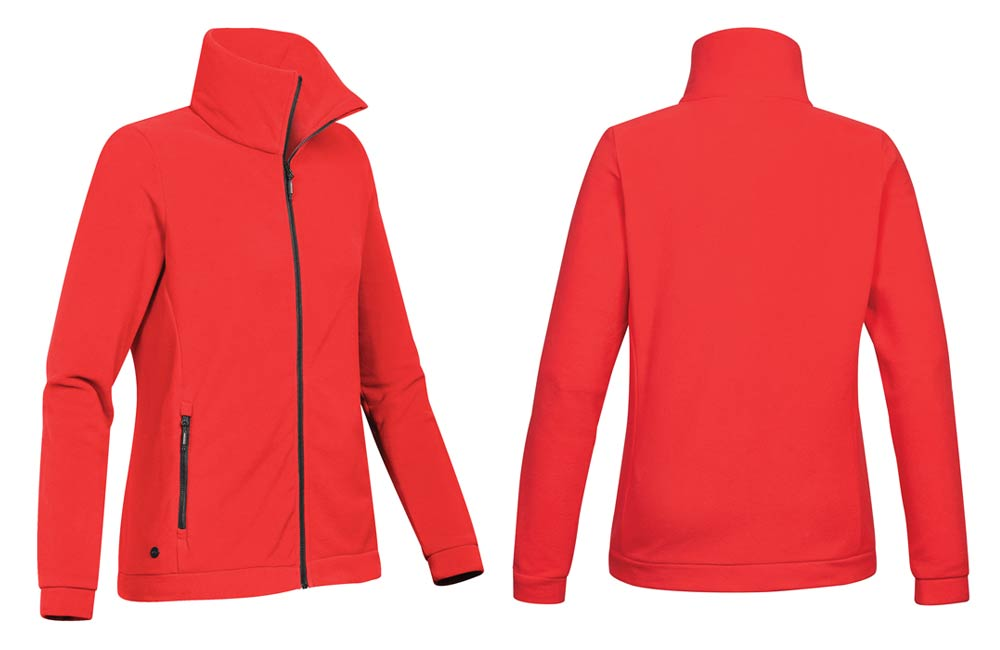 Red Fleece Jacket for Women