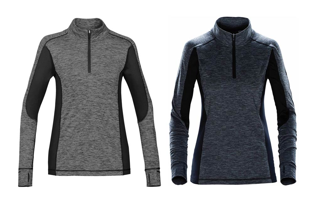 Grey Quarter Zippered Thermal Jacket