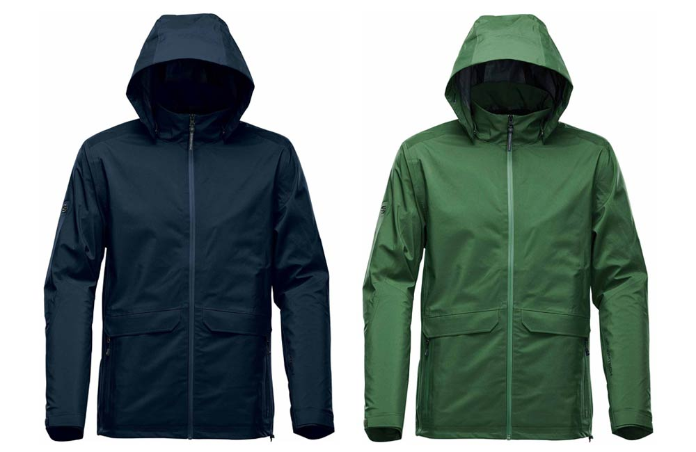 Men's Mission Technical Shell Jacket in Black and Green