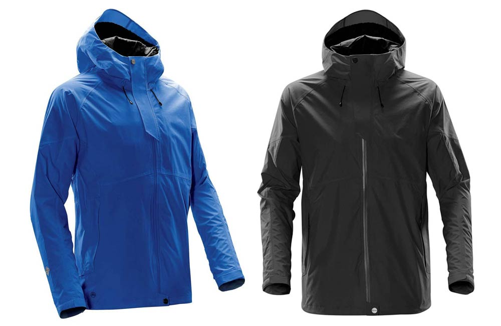 Black and Blue Waterproof Jackets
