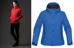 Red and Blue Female Winter Coats