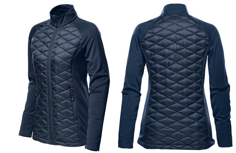 Women's Boulder Thermal Shell Jacket in Navy Blue