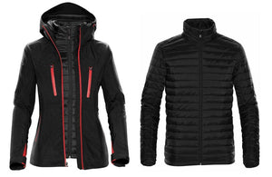 Women's Matrix System Jacket in Black and Red