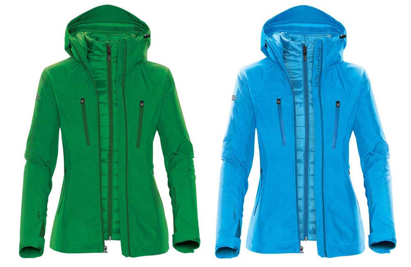Green and Blue Insulated Winter Coats