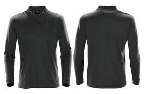 Grey Golf Shirts with Embroidered Company Logo