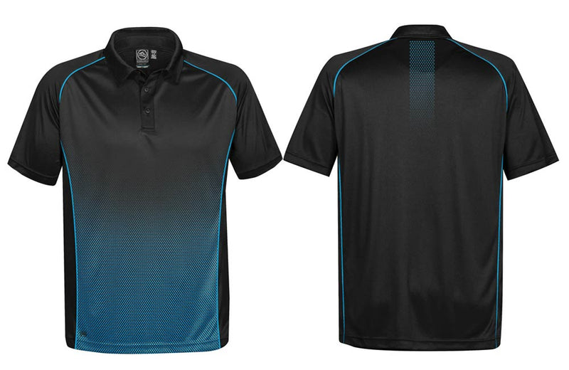 Black and Blue Men's Matrix Polo