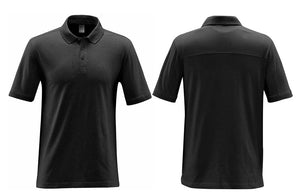Grey Cotton Moisture Wicking Collared Shirts