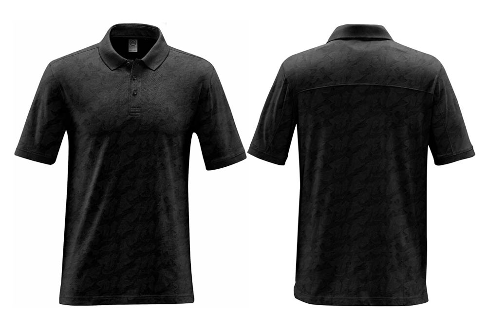 Black Golf Polos with Embroidered Company Logo