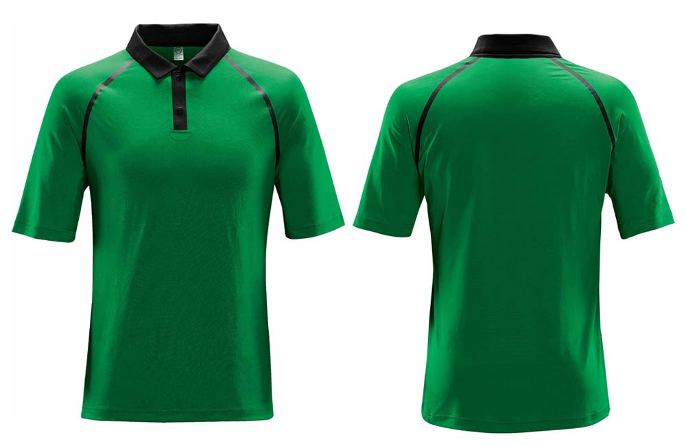 Green Moisture Wicking Polos