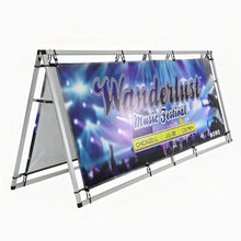 Load image into Gallery viewer, A-Frame Banner Display 8ft