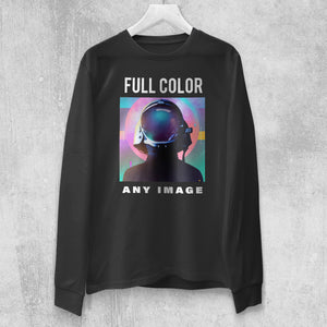Men's Long Sleeve Full Color T-Shirt