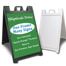 Load image into Gallery viewer, Deluxe Signicade A-Frame (Black)