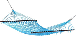 "Caribbean Rope Hammock 55"" (Light Blue) - CRHLTB"