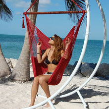 Load image into Gallery viewer, Caribbean-Large-Hammock-Chair-(Red)