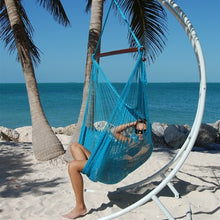 "Load image into Gallery viewer, Large Caribbean Hammock Chair 48"" Soft Spun Polyester -  Light Blue"
