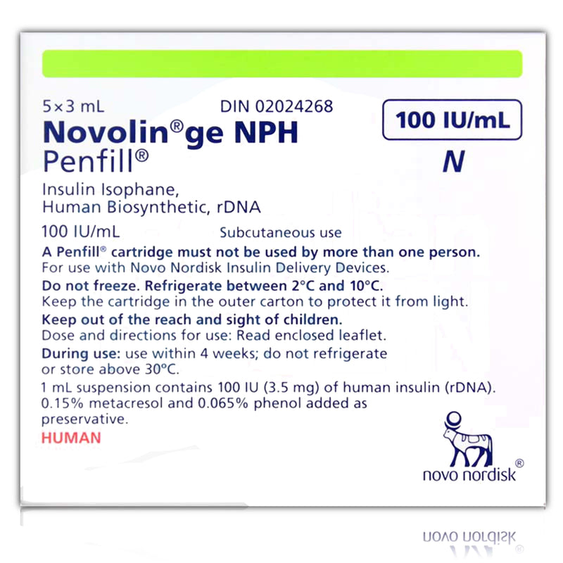 NOVOLIN ge NPH Penfill Cartridge