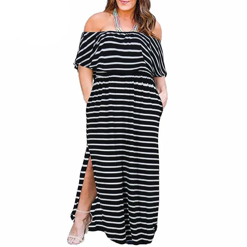 RAQUEL Ruffle Top Side-Slit Maxi Dress - Pockets On My Dress