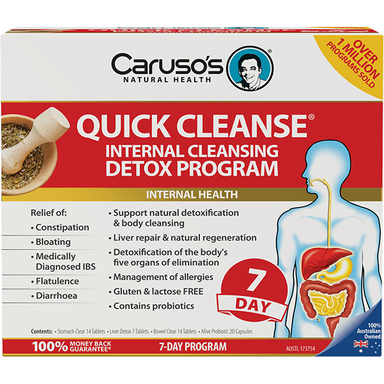 Caruso's Natural Health Quick Cleanse 7 Day Detox Program