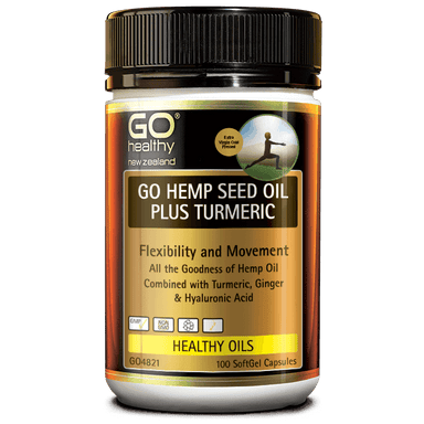 Go Healthy Go Hemp Seed Oil Plus Turmeric