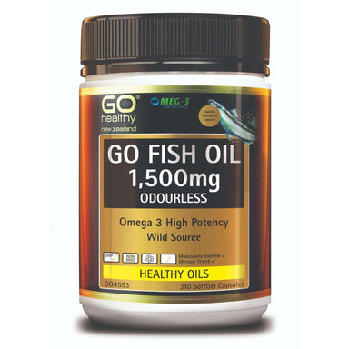 Go Healthy Go Fish Oil 1500mg Odourless