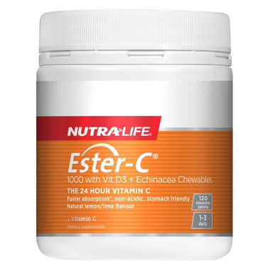 Nutra-Life Ester-C 1000mg with Vit D3 Echinacea Chews